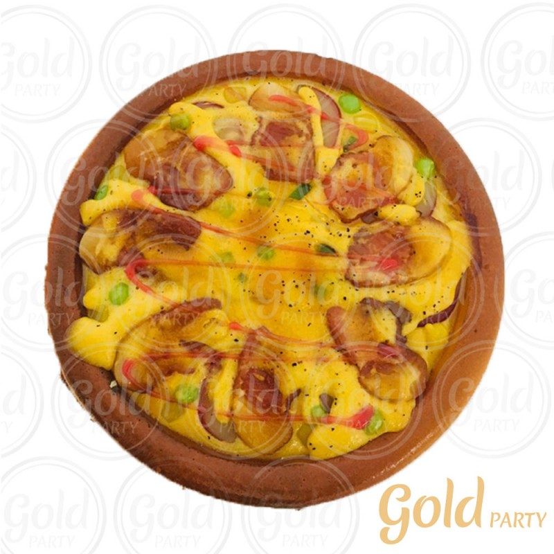 Pizza • Bacon • 1un • REF: PA1006/3 • Gold Party