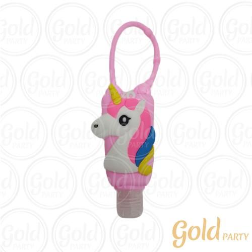 Porta Alcool Gel • Unicórnio • 1un.• Gold Party