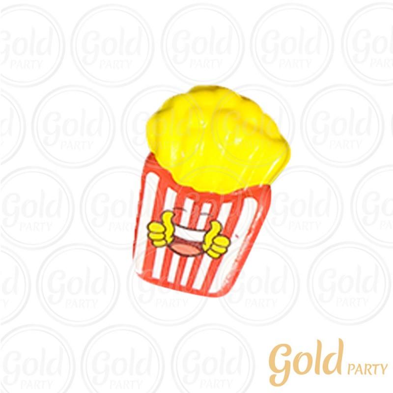Chaveiro Silicone • Batata Frita • Squish • 1un.• Gold Party