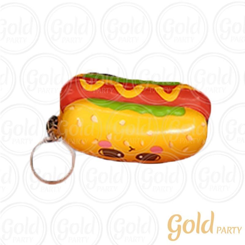 Chaveiro Silicone • Cachorro Quente • 1un.• Gold Party