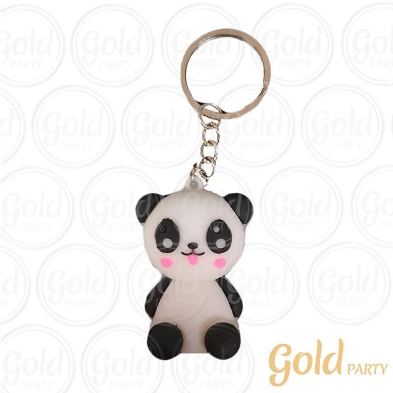 Chaveiro Silicone 3D • Urso Panda • 12un.• Gold Party