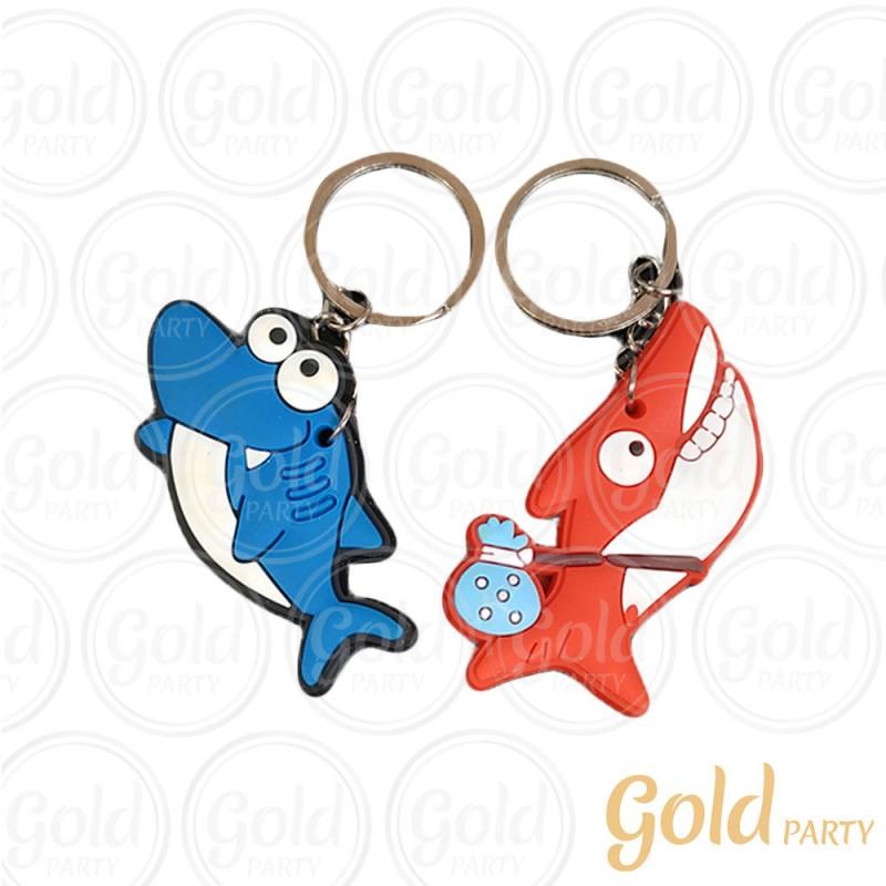 Chaveiro Silicone • Tubarão • Sortido • 12un.• Gold Party
