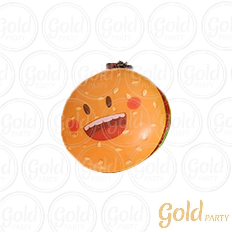 Chaveiro Silicone • Hambúrguer • 1un.• Gold Party