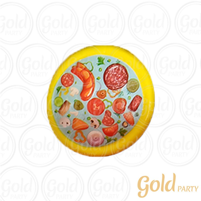 Chaveiro Silicone • Pizza Squish • 1un.• Gold Party