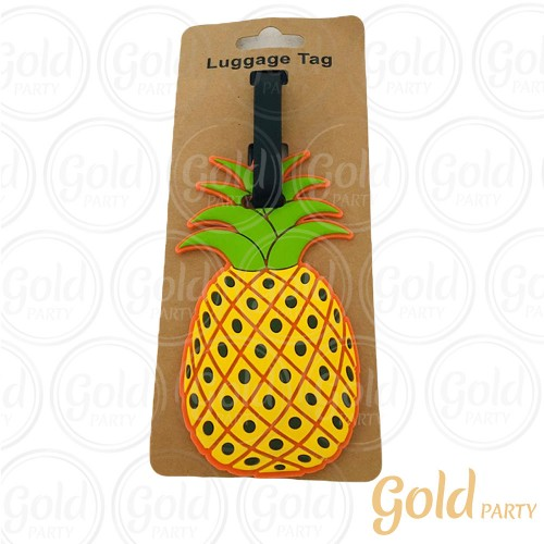 Luggage Tag Abacaxi • 1un.• Gold Party