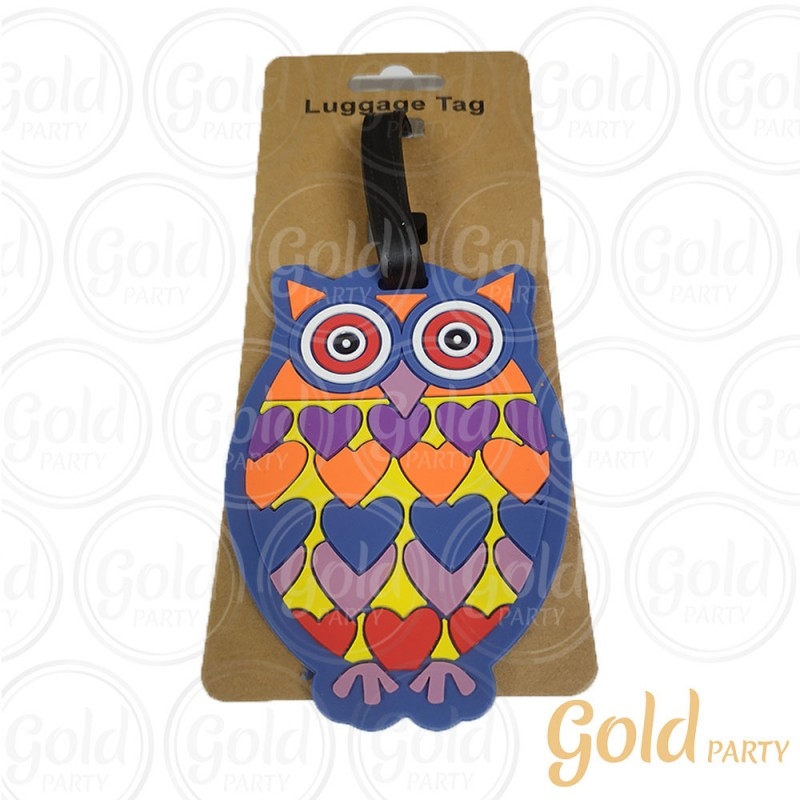Luggage Tag Coruja • 1un.• Gold Party