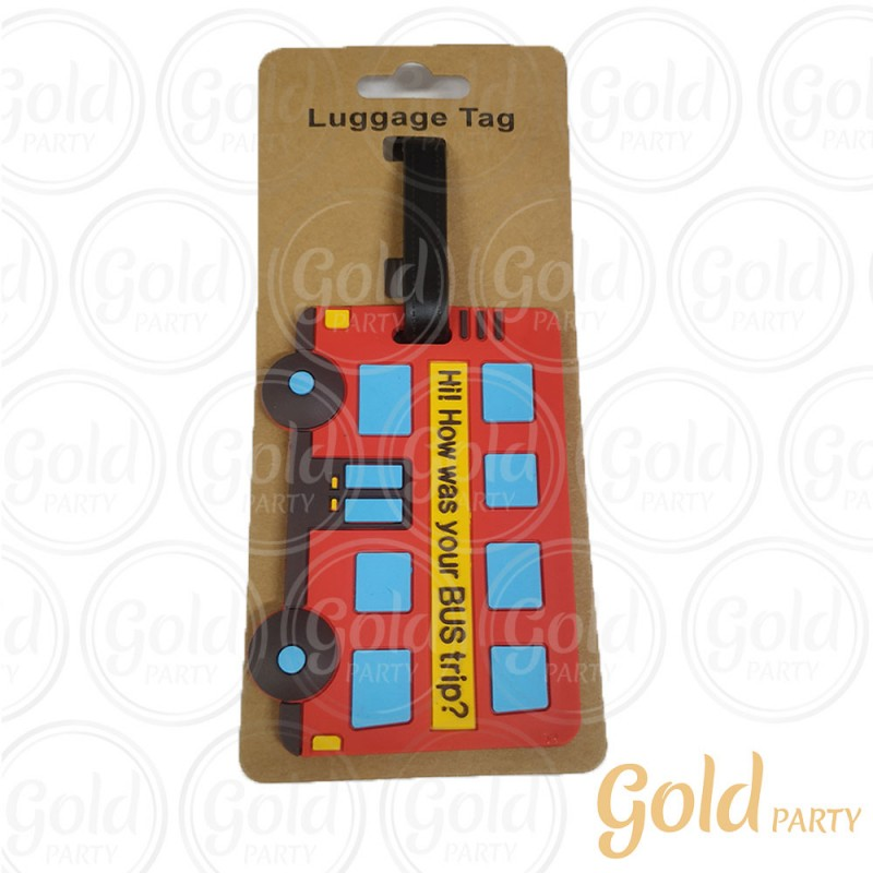 Luggage Tag Ônibus • 1un.• Gold Party