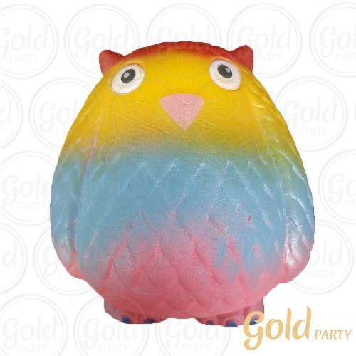 Brinquedo Squish • Coruja • 1un.• Gold Party