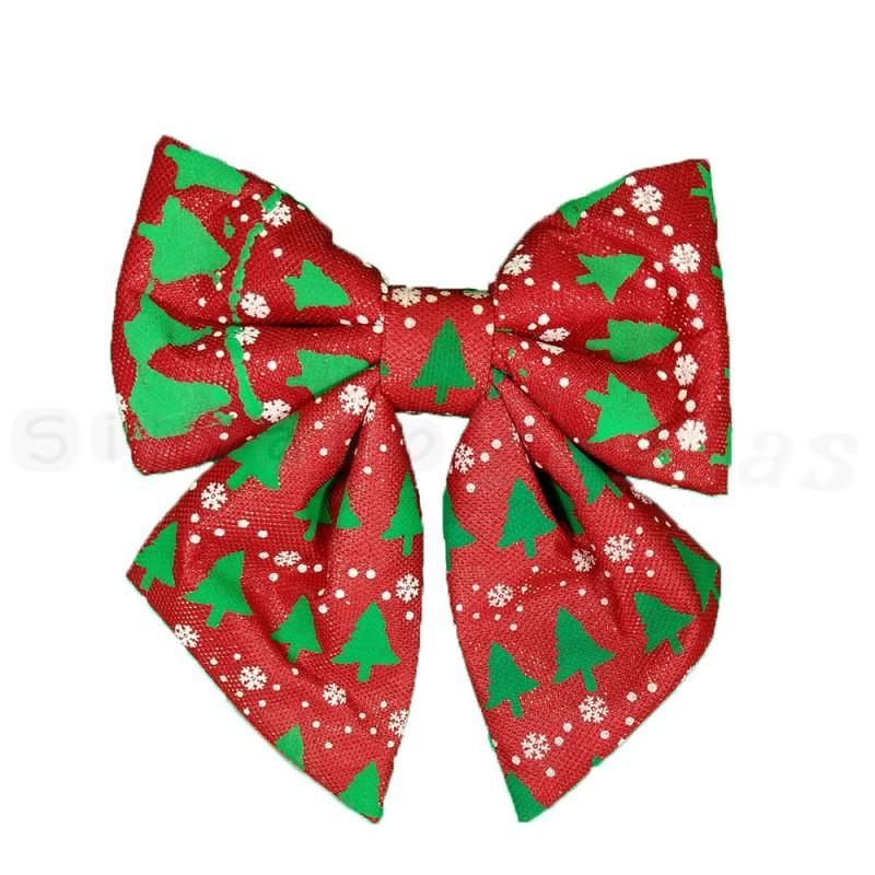 Laço Vermelho Decorado • Grande • Natal