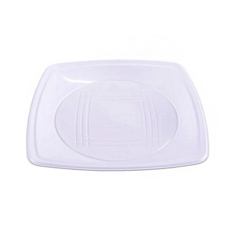 Prato Descartável Branco 21cm - 10Un - Prafesta