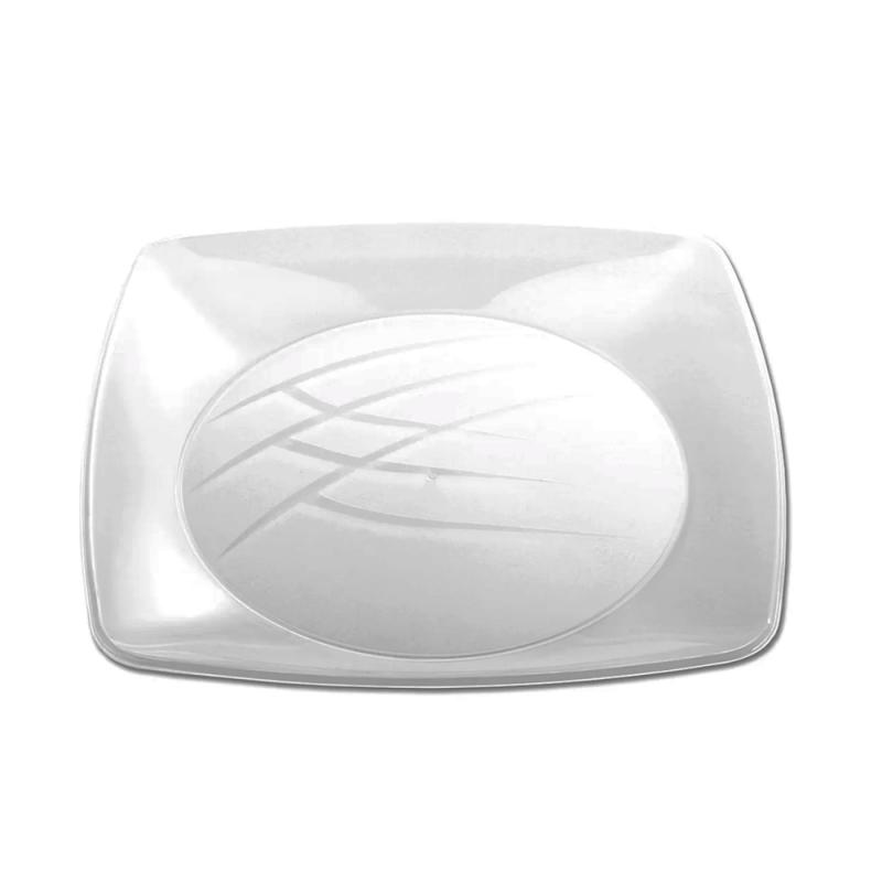 Prato Cristal Luxo 21cm - 10Un - Prafesta