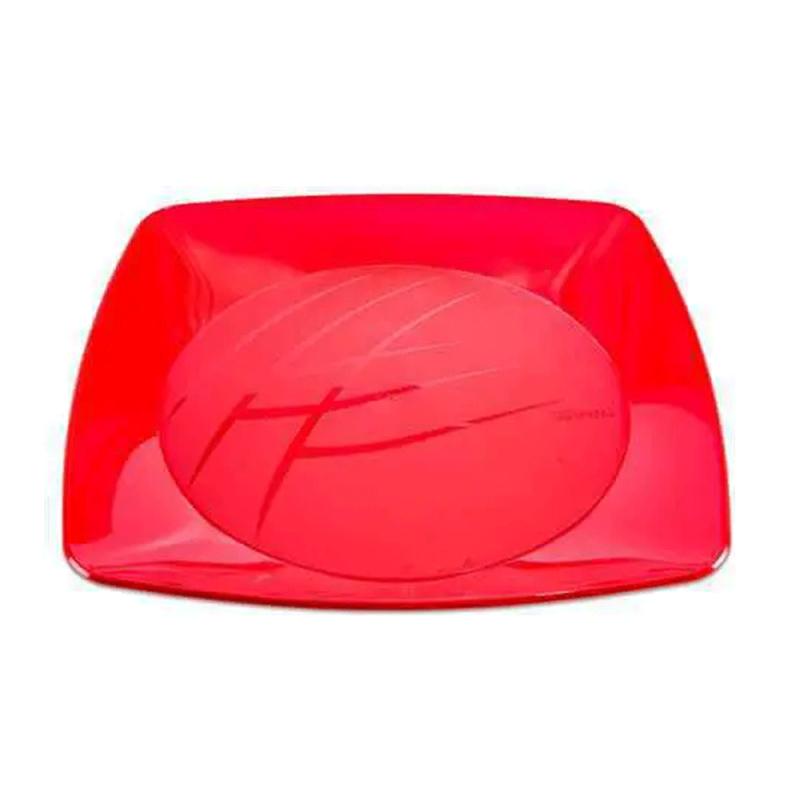Prato Vermelho Luxo 21cm - 10Un - Prafesta