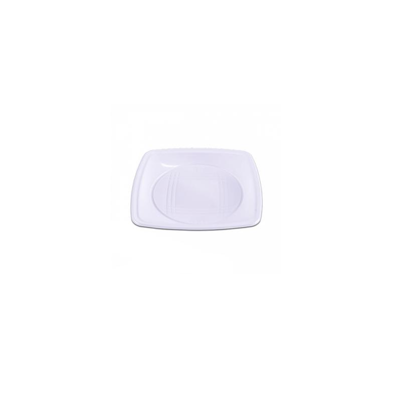 Prato Sobremesa Branco Descartável 15cm - 10Un - Prafesta