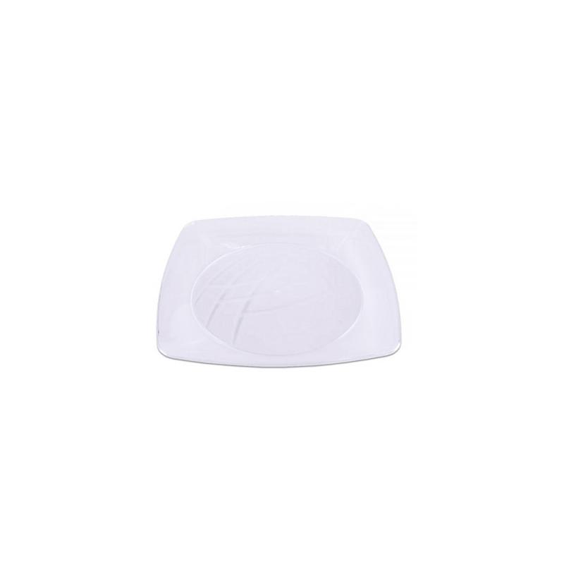 Prato Sobremesa Branco 15cm - 10Un - Prafesta