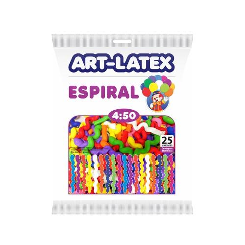 Balão Canudo Espiral Sortido Nº450 - Pacote com 25 unidades