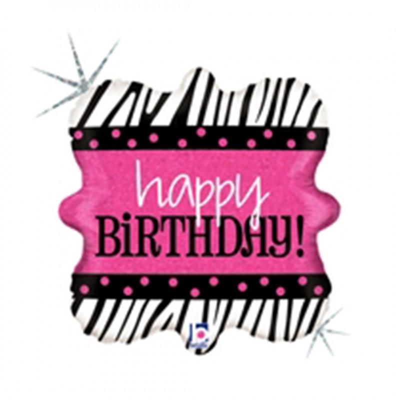 Balão Square • Happy Birthday • Funny Fashion