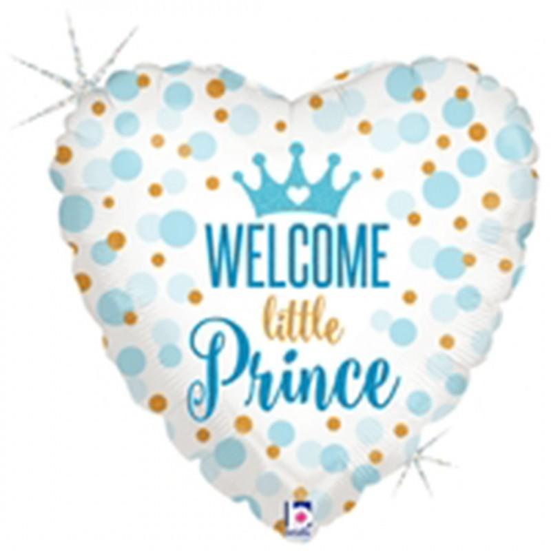 Balão Coração • Welcome Little Prince • Funny Fashion