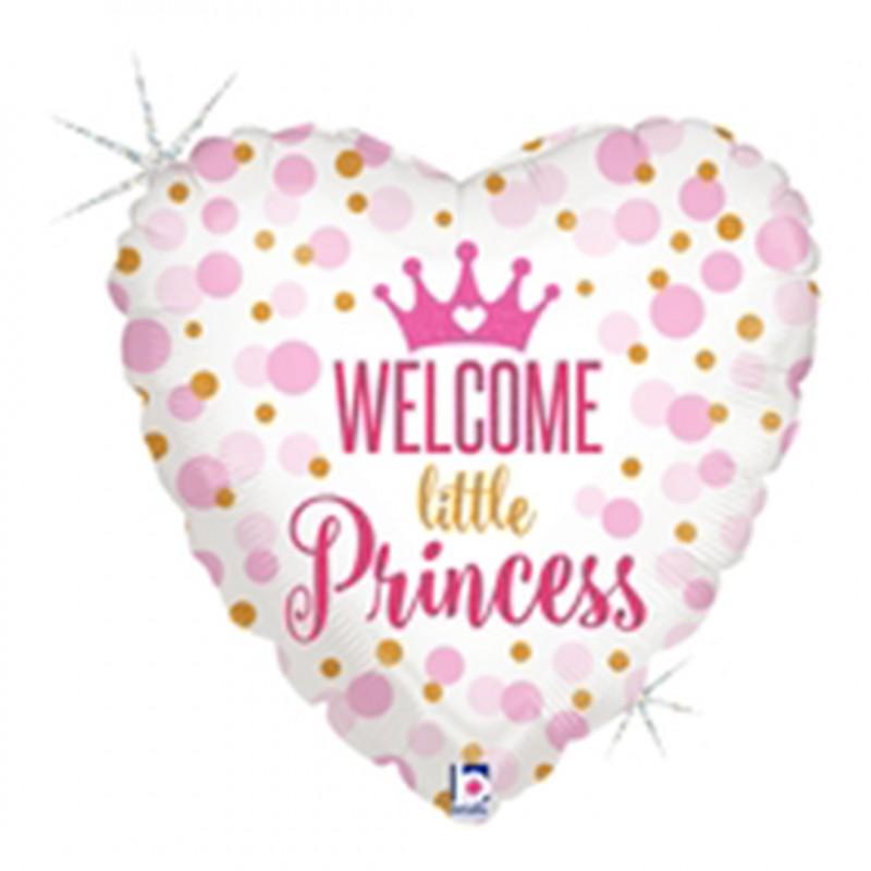 Balão Coração • Welcome Little Princess • Funny Fashion