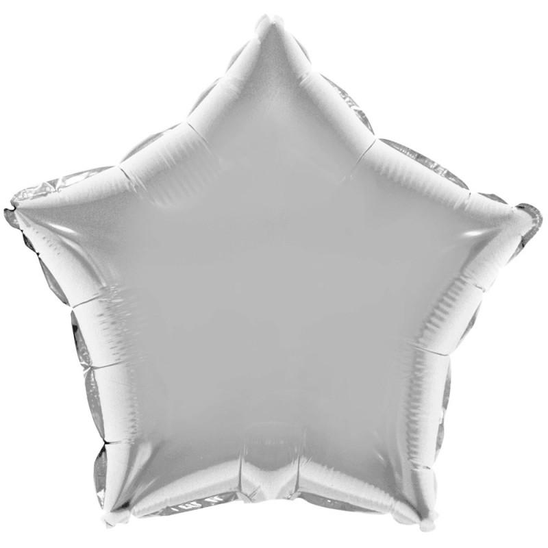Balão Estrela • Prata • Foil • Funny Fashion