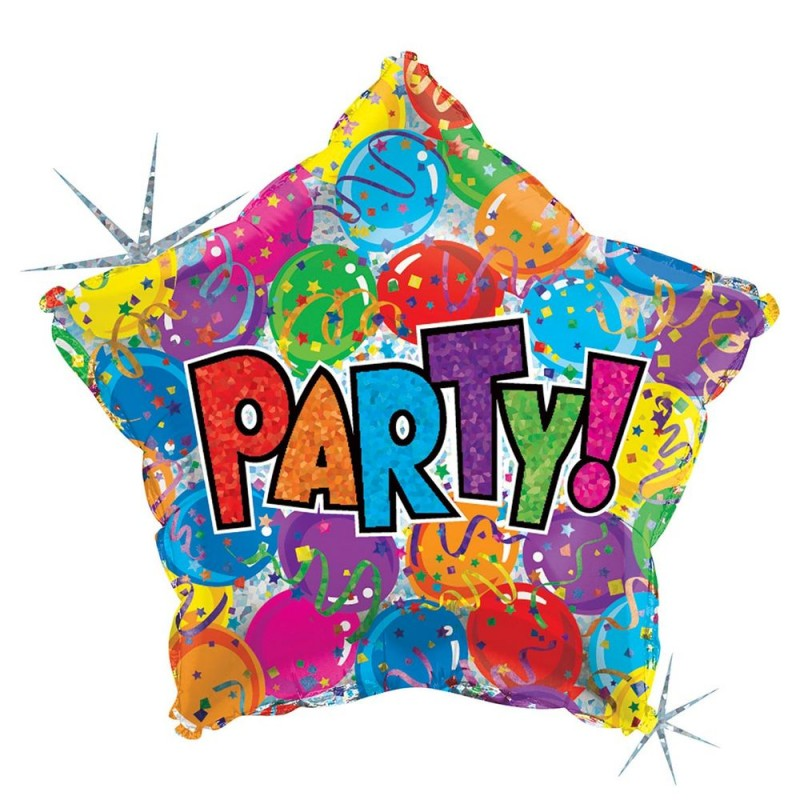 "Balão Party Star 19"" • Estrela • Vazio • Grabo"