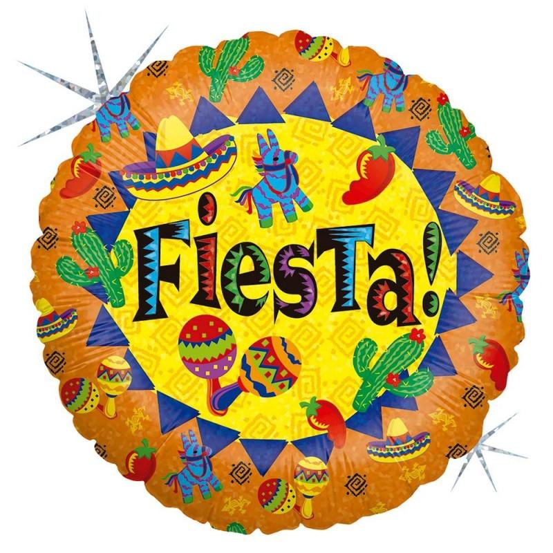 Balão Fiesta • Metalizado • Vazio • 18'' • Grabo