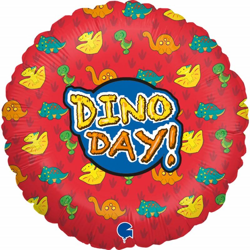 Balão Dino Day • Metalizado • Vazio • 18'' • Grabo