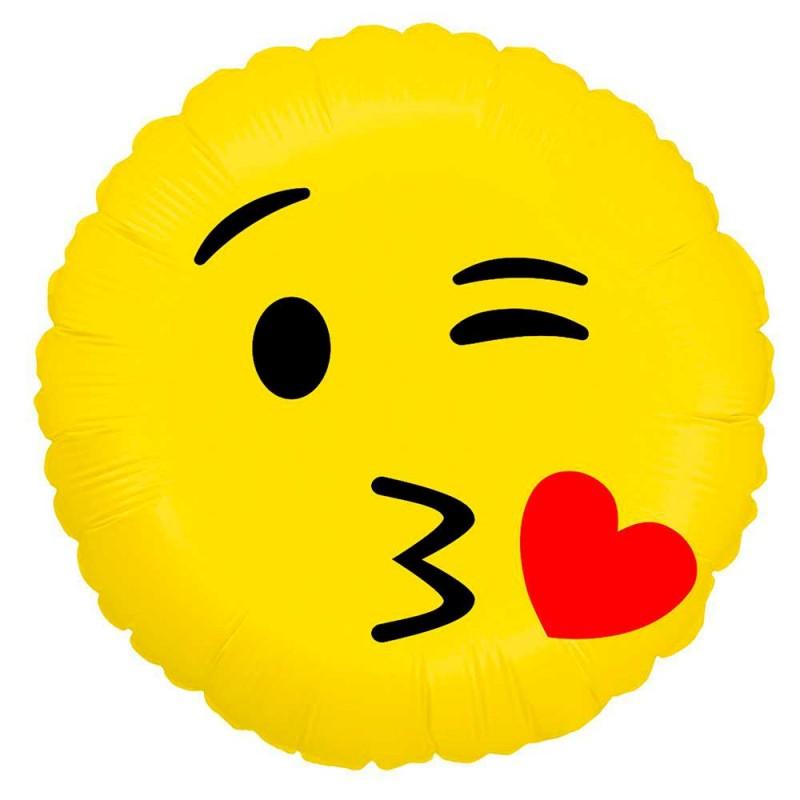 Balão Emoji Beijo • Foil • Grabo