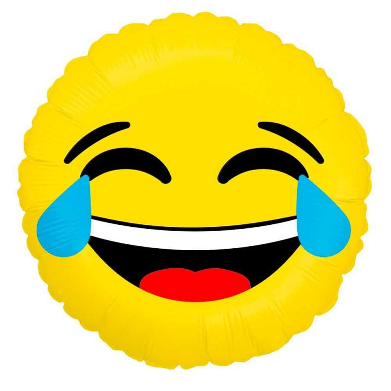 Balão Emoji Rindo • Foil • Grabo