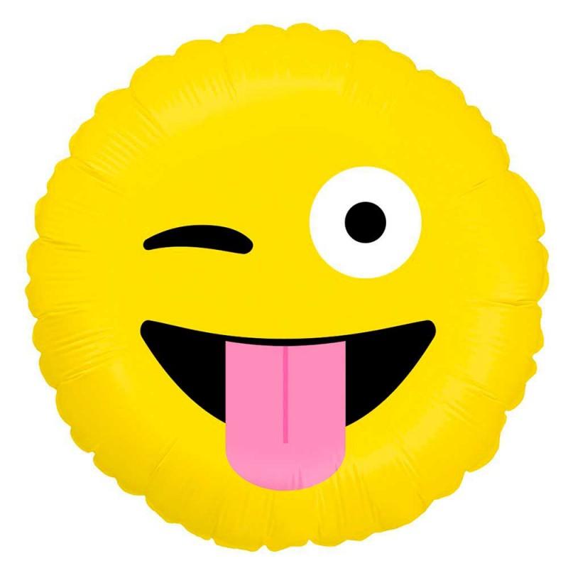 Balão Emoji Careta • Foil • Grabo