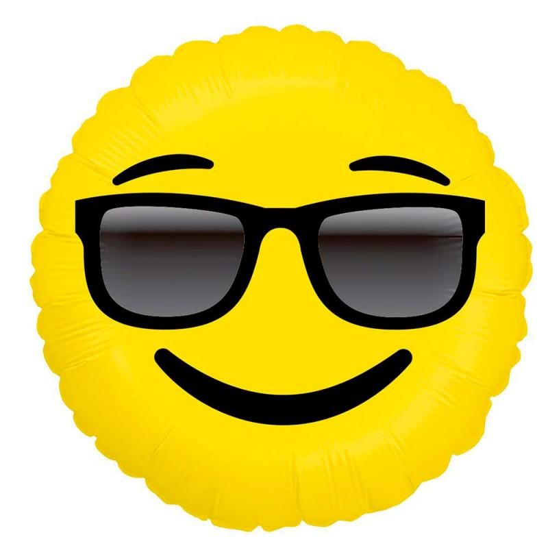 Balão Emoji Óculos de Sol • Foil • Grabo