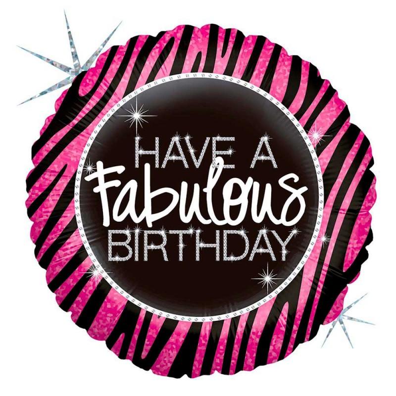 Balão Fabulous Birthday • Foil • Grabo
