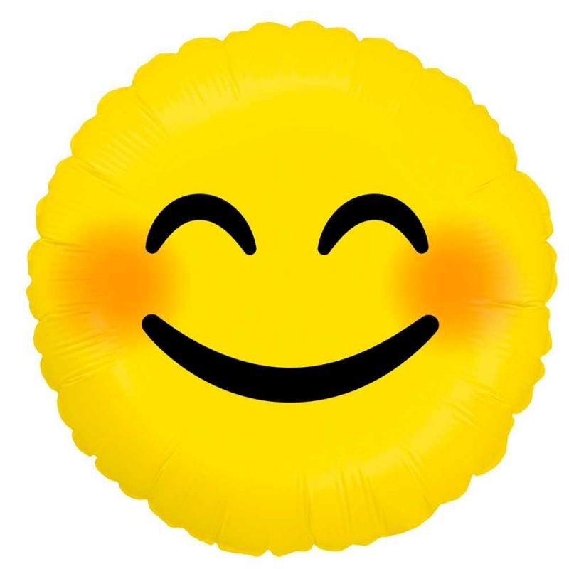 Balão Emoji Sorriso Maroto • Foil • Grabo