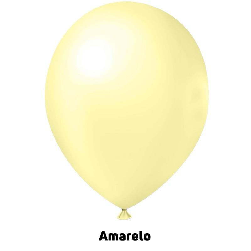 Balão Nº9 JOY • 25 un • Candy • Amarelo