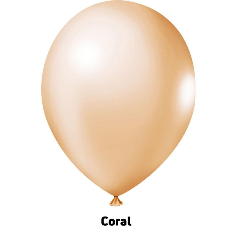 Balão Nº9 JOY • 25 un • Candy • Coral