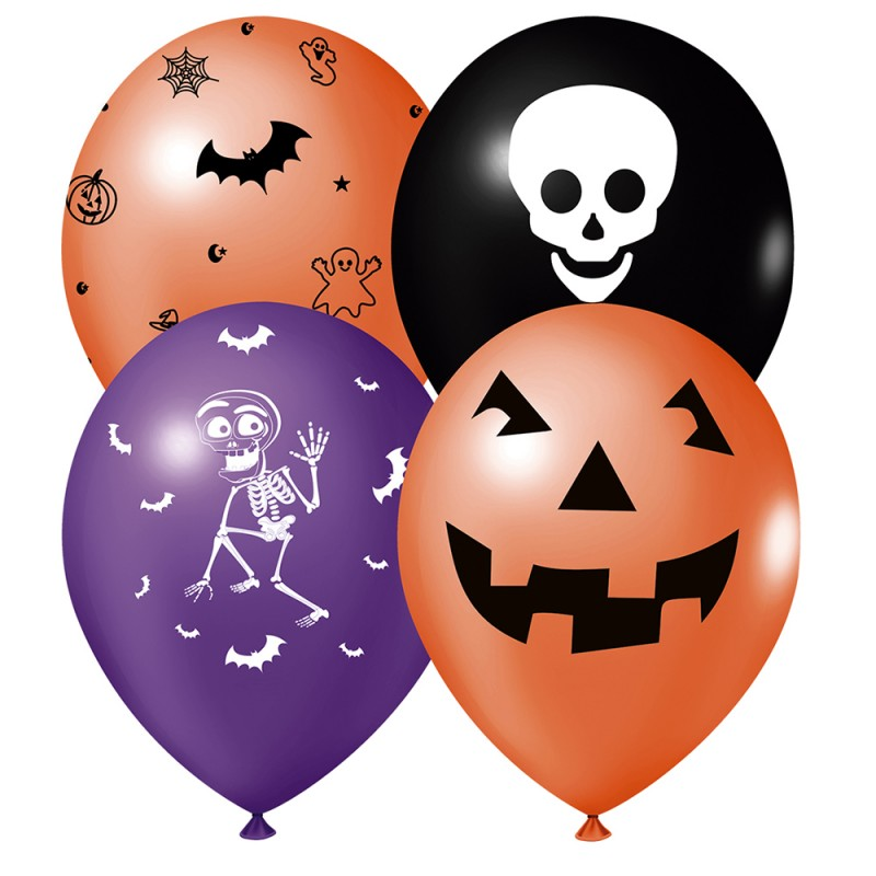 Balão Estampado • Halloween • Sortido • Nº9 • 25 un • JOY