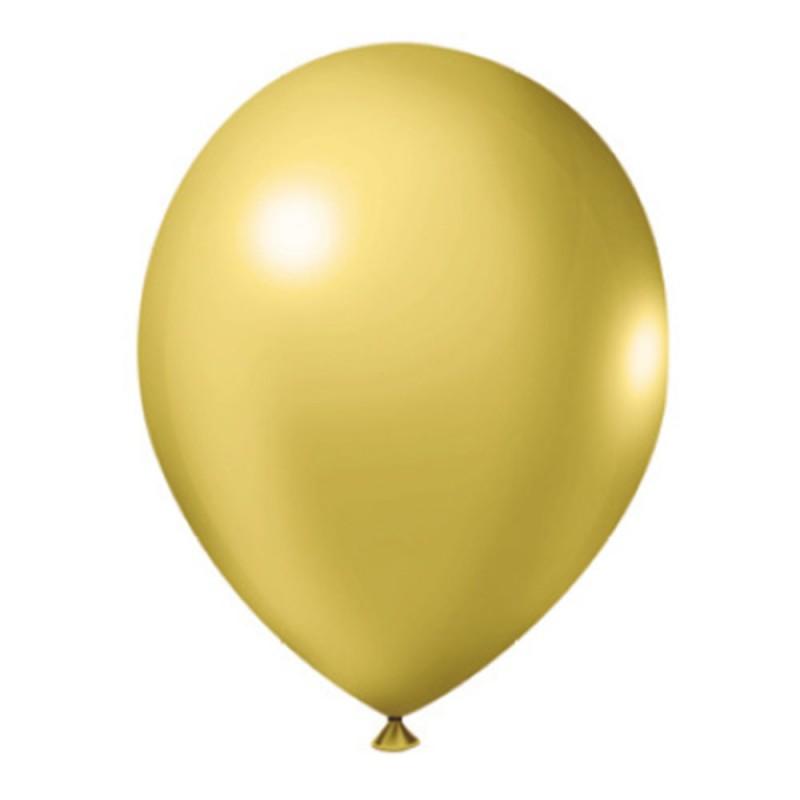 Balão Dourado Nº9 • 50un • JOY