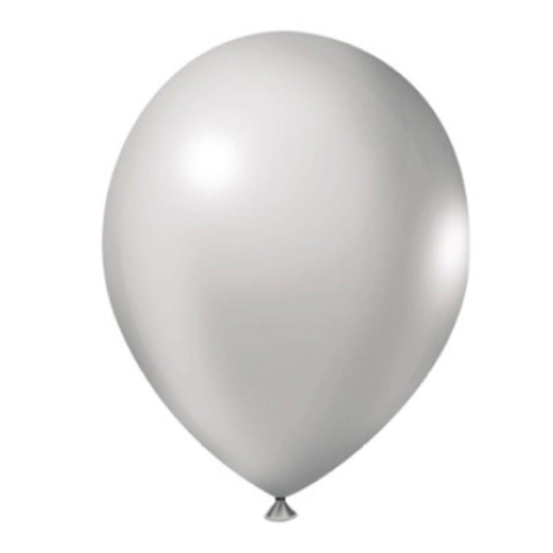 Balão Prata Nº9 • 50un • JOY