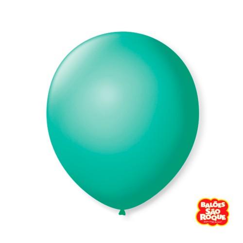 Balão Verde Tiffany Nº9 • 50 un.• São Roque