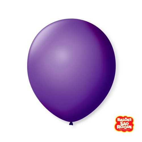 Balão Roxo Uva Nº9 • 50 un.• São Roque