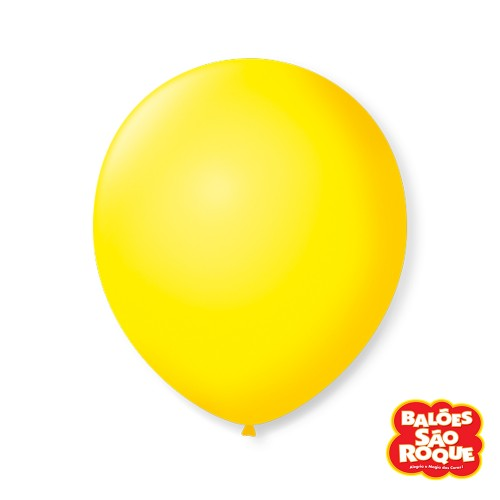 Balão Amarelo Citrino Nº9 • 50 un.• São Roque