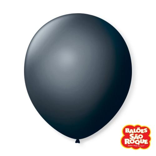 Balão Preto Ébano Nº9 • 50 un.• São Roque