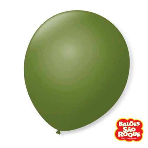 Balão Verde Militar Nº9 • 50 un.• São Roque