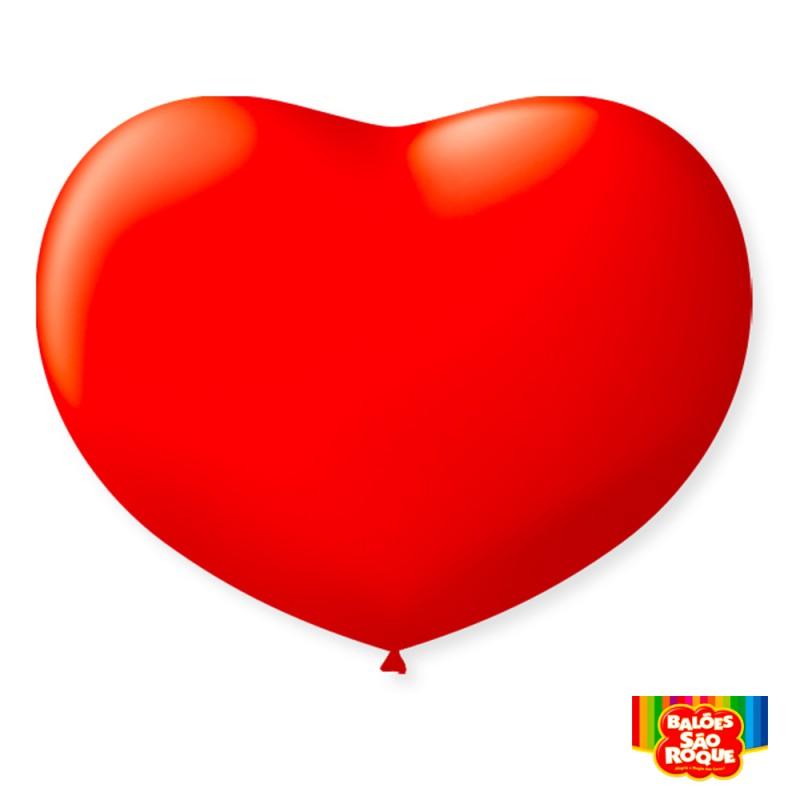 Balão Coração N°11 - Pacote C/20un.