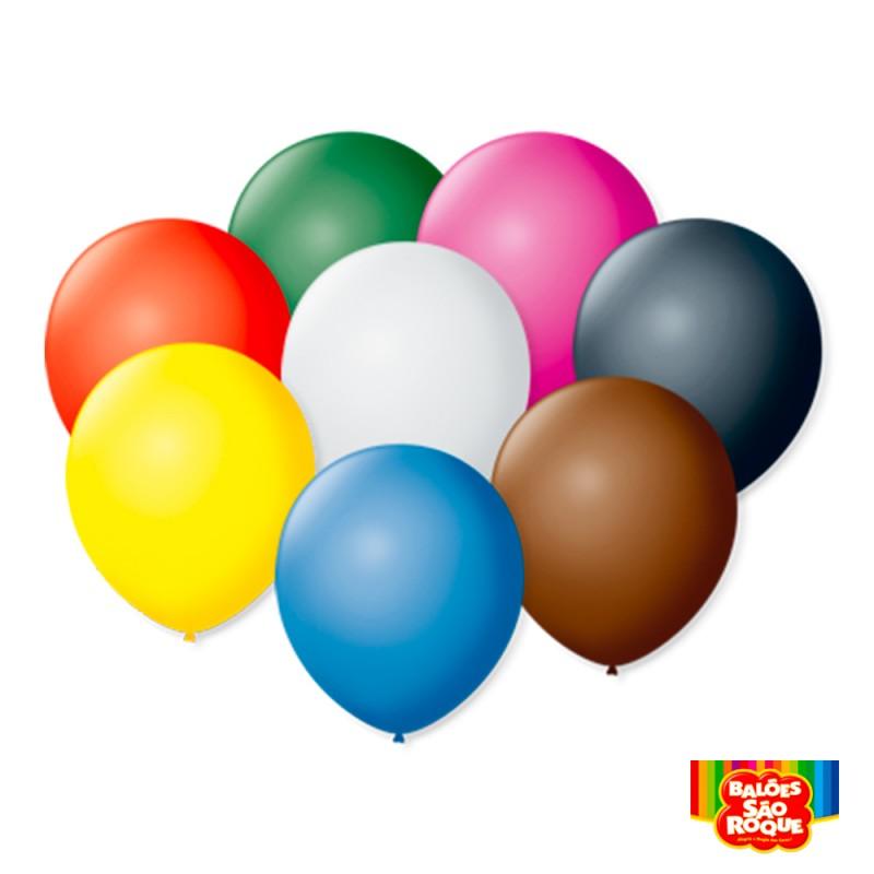 Balão Sortido Globitos de Agua - Pacote c/100un.