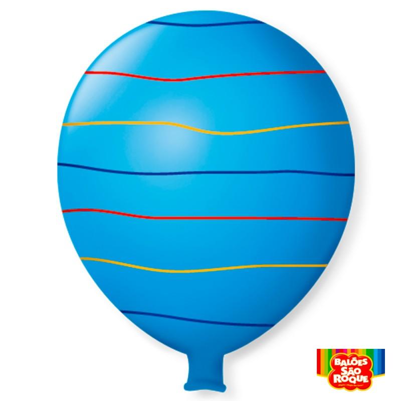 Balão Super Gigante Arco-Íris Azul