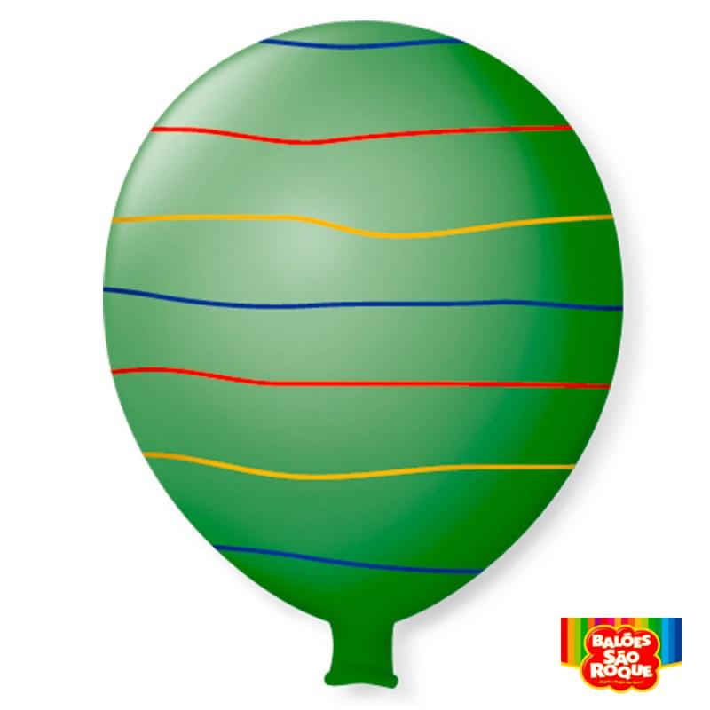 Balão Super Gigante Arco-Íris Verde