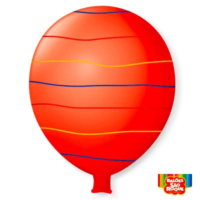 Balão Super Gigante Arco-Íris Vermelho