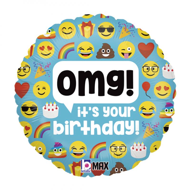 Balão Emojis • Metalizado • Vazio • 18'' • Grabo