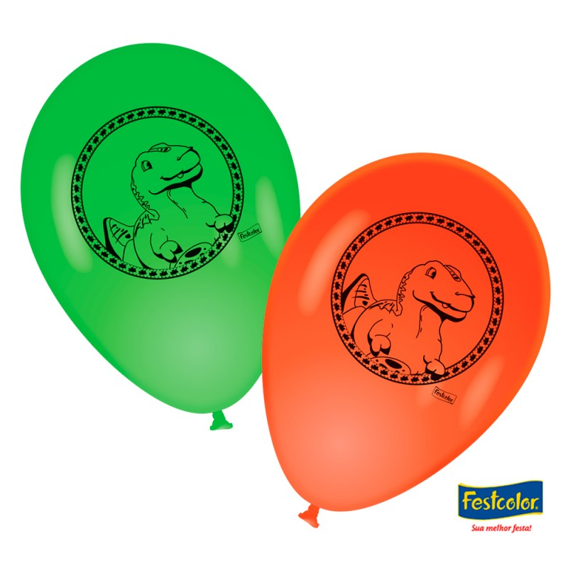 Balão Nº9 Dino • 25un.• FESTCOLOR