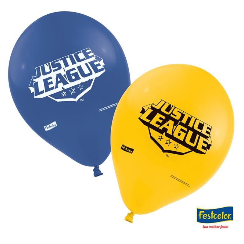 Balão Nº9 Liga da Justiça - Pacote 25un.